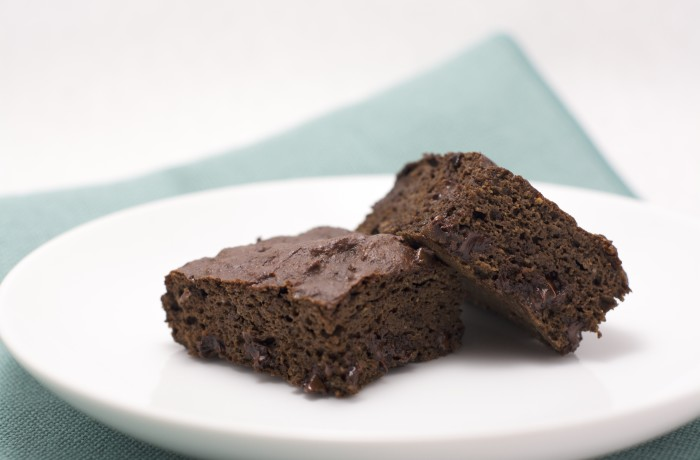 High Protein Whole Wheat Tofu Black Bean Brownie