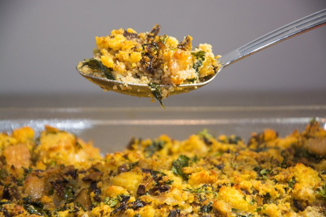 Wild mushroom and swiss chard stuffing