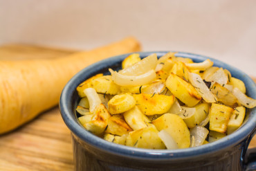 Thyme Roasted Parsnips And Onions