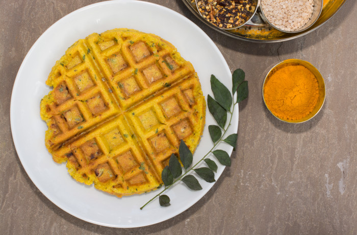 Savory Indian-spiced Lentil And Rice Waffle