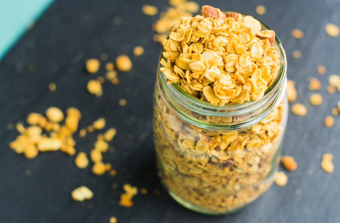 Back To School Nutty Maple-Peanut Butter Granola