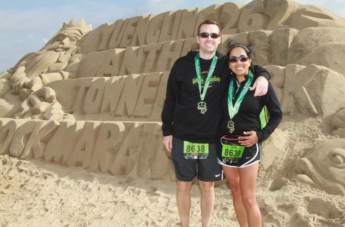 Nate & Nina after a half marathon