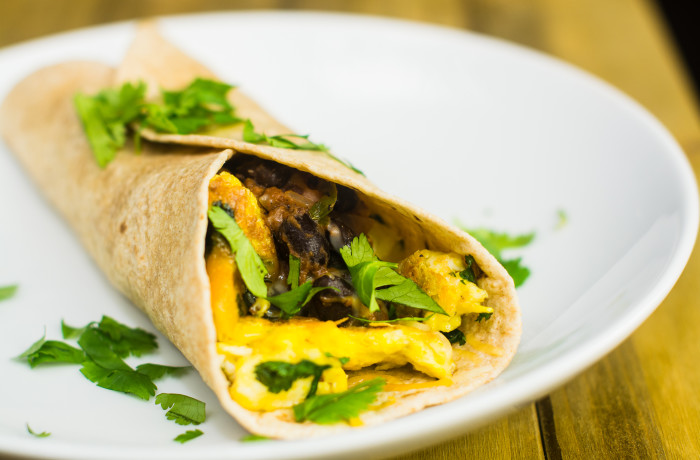 Spicy Vegetarian Breakfast Burrito