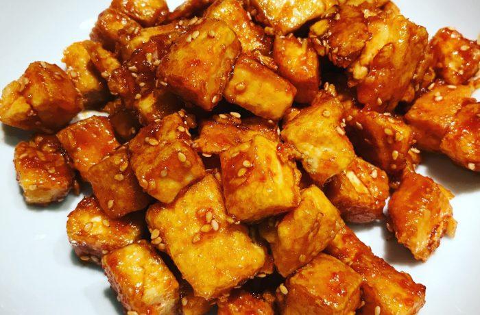 Honey Siracha Tofu Bites